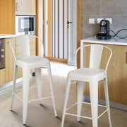 AdecoTrading 30'' Bar Stool (Set of 2); White