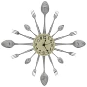 Forked Up Art 17'' Spoon/Fork/Spoon Clock
