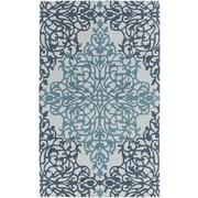Artistic Weavers Hermitage Faith Hand Tufted Teal/Light Blue Area Rug; 5' x 8'