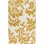 Artistic Weavers Lounge Heidi Hand Tufted Gold/Off-White Area Rug; 4' x 6'