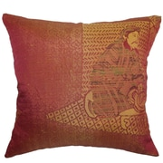 The Pillow Collection Harb Traditional Cotton Throw Pillow Cover