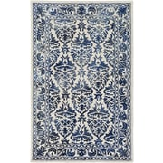 Artistic Weavers Organic Evelyn Hand Tufted Navy/Off-White Area Rug; 8' x 10'