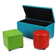 AdecoTrading Home 3 Piece Storage Ottoman Set
