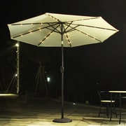 AdecoTrading 9' Patio Round Market Umbrella; Beige