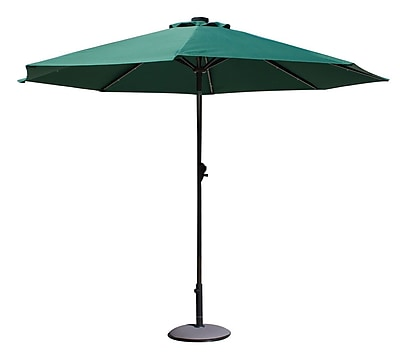 AdecoTrading 9' Patio Round Market Umbrella; Dark Green WYF078278339797