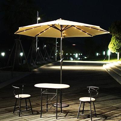 AdecoTrading 9' Patio Round Market Umbrella; Tan WYF078278339798
