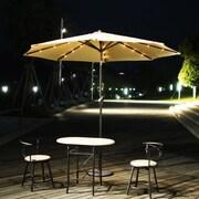 AdecoTrading 9' Patio Round Market Umbrella; Tan