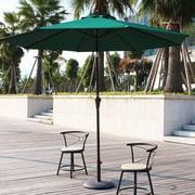 AdecoTrading 9' Patio Round Market Umbrella; Dark Green