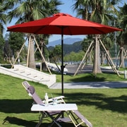 AdecoTrading 9' Patio Round Market Umbrella; Red