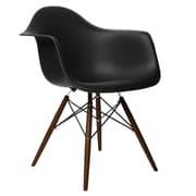 eModern Decor Scandinavian Arm Chair; Black