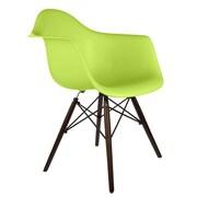 eModern Decor Scandinavian Arm Chair; Green