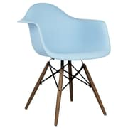 eModern Decor Scandinavian Arm Chair; Light Blue