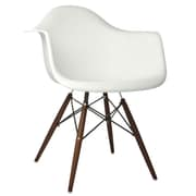 eModern Decor Scandinavian Arm Chair; White