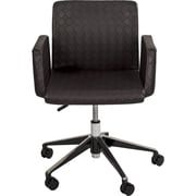 Matrix Klinton Checkered Mid-Back Swivel Office Chair; Brown