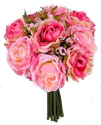AdmiredbyNature 11 Stems Artificial Rose Bouquet; Pink
