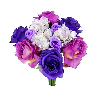 AdmiredbyNature 12 Stems Artificial Rose Bouquet; Lilac