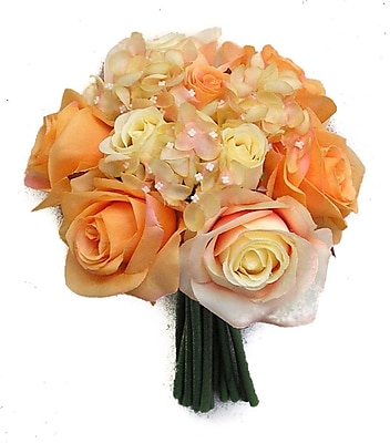 AdmiredbyNature 12 Stems Artificial Rose Bouquet; Orange