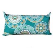 TK Classics Teal Sundial Outdoor Lumbar Pillow (Set of 2)