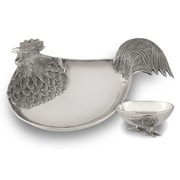 Star Home Rooster Chip and Dip Tray