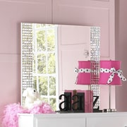 Standard Furniture Marilyn Rectangular Mirror; White
