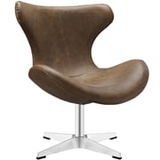 Modway Helm Vinyl Lounge Chair; Brown