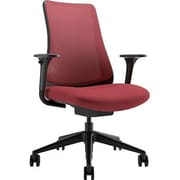 Via Seating Task Seating Mid-Back Mesh Chair with Adjustable Arms; Red