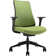 Via Seating Task Seating High Back Mesh Task Chair with Adjustable Arms; Lime Green