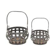 Woodland Imports 2 Piece Basket Set