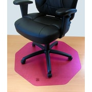 FLOORTEX Cleartex 9 Sided Chair Mat; Cerise