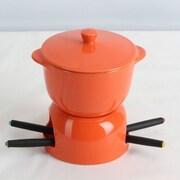 Omniware Chocolate Fondue Set; Orange