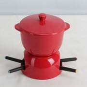 Omniware Chocolate Fondue Set; Red
