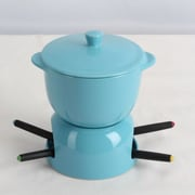 Omniware Chocolate Fondue Set; Turquoise
