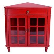 Heather Ann 1 Drawer 2 Door Chest; Red