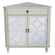 Heather Ann 1 Drawer 2 Door Chest; Cream