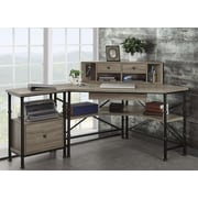Turnkey LLC Franklin Writing Desk with Hutch and File