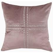 Cloud9 Design Cleo Velvet Throw Pillow; Light Brown
