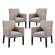 Modway Chloe Arm Chair (Set of 4); Beige