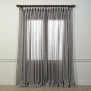 Half Price Drapes Iceland Single Curtain Panel; 100'' L x 108'' W