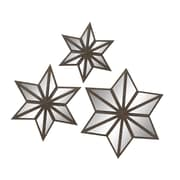 Woodland Imports 3 Piece Star Mirror Set (Set of 3)