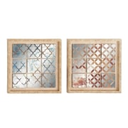 Woodland Imports 2 Piece Framed Mirror Set
