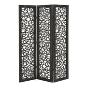 Woodland Imports 72'' x 48'' Beautiful and Lovely 3 Panel Room Divider