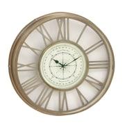Woodland Imports 21'' Wall Clock; Brass