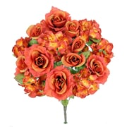 AdmiredbyNature 18 Stems Artificial Full Blooming Rose and Hydrangea w/ Greenery; Tuscany
