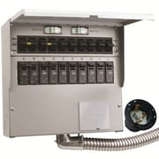 Reliance Controls Pro/Tran 50-Amp 10-Circuit 2 Manual Transfer Switch with Optional Power Inlet
