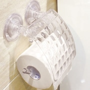 Sweet Home Collection Popular Eliza Suction Cup Toilet Paper Holder
