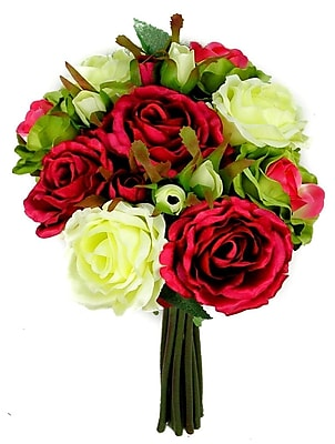 AdmiredbyNature 11 Stems Artificial Rose Bouquet; Rose