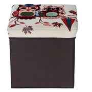 Creative Living Folding Storage Ottoman; Brown