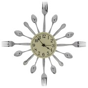 Forked Up Art 17'' Fork/Fork/Spoon Clock