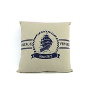 Handcrafted Nautical Decor Vintage Vessels 1872 Decorative Nautical Throw Pillow