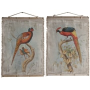 A&B Home Oiseau Wall Decor 2 Piece Graphic Art Set (Set of 2)